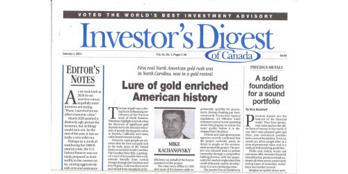 INVESTOR'S DAILY OF CANADA (to be translated)
