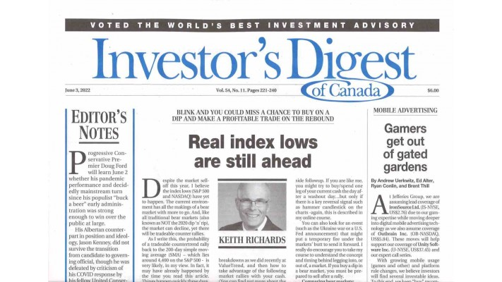 INVESTOR'S DIGEST OF CANADA