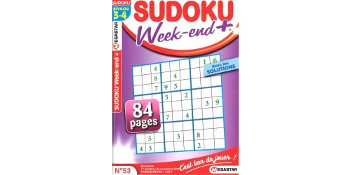 SUDOKU WEEK-END + NIVEAU 3-4